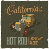 California Legendary Racers Poster Stock Image