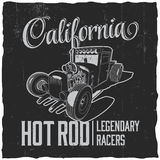California Legendary Racers Poster Stock Photo