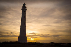 California Lighthouse in Aruba Sunset Royalty Free Stock Images