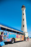 California Lighthouse Landmark on Aruba Caribbean Royalty Free Stock Image