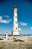 California Lighthouse Landmark on Aruba Caribbean Stock Photo