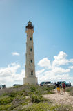 California Lighthouse Landmark on Aruba Caribbean Royalty Free Stock Photography
