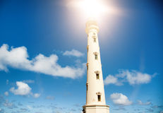 California Lighthouse Landmark on Aruba Caribbean Royalty Free Stock Photography