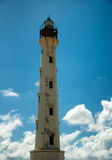 California Lighthouse Landmark on Aruba Caribbean Stock Photography