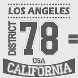 California Los Angeles District Sport t-shirt Royalty Free Stock Photo