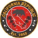 California love  t-shirt application Royalty Free Stock Photos