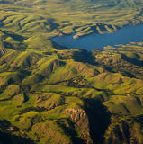 California Lush Hillsides From Above Royalty Free Stock Photo
