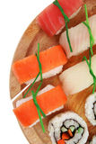 California Maki Roll with Nigiri Stock Image
