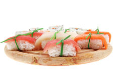 California Maki Roll with Nigiri Stock Photo