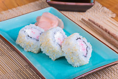 California maki sushi with crab meat Royalty Free Stock Image