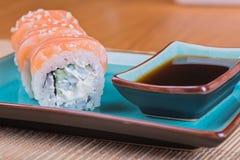 California maki sushi with fish Royalty Free Stock Images