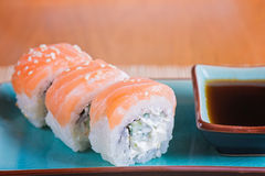 California maki sushi with fish Royalty Free Stock Image