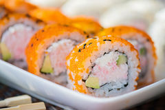 California maki sushi with masago Stock Photography