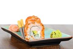California maki sushi with orange masago Stock Photography