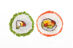 California maki sushi rolls. Royalty Free Stock Images