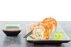 California maki sushi rolls on the table Stock Image