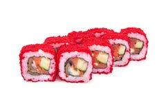 California Maki Sushi. On white Stock Photography