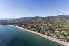 California Malibu Beaches. Aerial view of the Escondido beach area of Malibu in Los Angeles County, California Stock Images