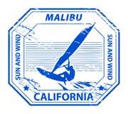 california malibu znaczek royalty ilustracja