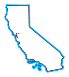 California Map Illustration. A clean Map outline of the state of California vector illustration