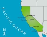 california mapy stan royalty ilustracja