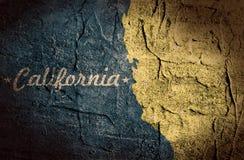 california mapy stan Zdjęcia Royalty Free