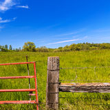 California meadow ranch in a blue sky spring day Stock Photo