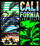 California miami summer t shirt graphic design. Fashion style Royalty Free Stock Images