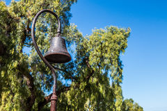 California Mission Bell with Trees Stock Photo