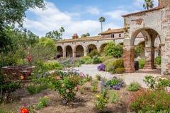 California Mission Garden Stock Photos