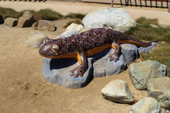 California Newt Sculpture Stock Images
