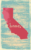 California nostalgic rustic vintage state vector sign. Rustic vintage style U.S. state poster in layered easy-editable vector format Royalty Free Stock Image