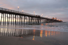 California Oceanside pier. At sunrise Royalty Free Stock Photography