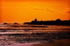california oceanu Pacific zmierzch fotografia stock