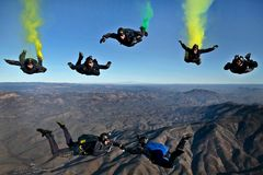California, Parachutists, Skydivers Royalty Free Stock Photos