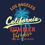 California paradise slogan, Summer beach typography, tee shirt graphic, slogan, printed design. t-shirt printing. And embroidery apparel vector illustration