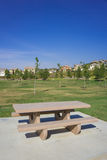 California Park Picnic Table Stock Image