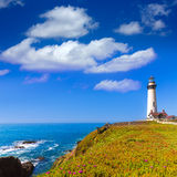 California Pigeon point Lighthouse in Cabrillo Hwy coastal hwy 1 Stock Image