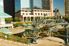 California Plaza, Los Angeles. California Plaza in the heart of downtown Los Angeles offers an oasis to the glass and steel of the city Stock Photography