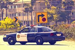 California Police Cruiser Royalty Free Stock Photo