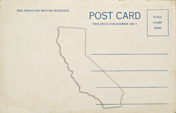 California Postcard Royalty Free Stock Image