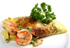 California prawn omlette horizontal Stock Images