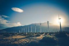 California Renewable Energy. Wind Energy Power Plant. Coachella Valley, United States of America Stock Image