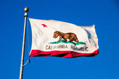 California Republic flag Royalty Free Stock Images