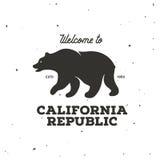 California republic t-shirt vector graphics. Vintage style illustration. royalty free illustration
