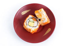 California Roii Maki Sushi with Masago Royalty Free Stock Photo