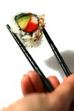 California Roll and Chopsticks Stock Images