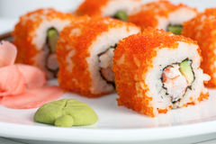California roll, close-up Royalty Free Stock Photography
