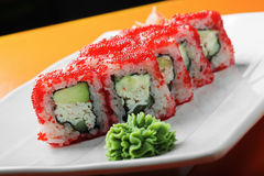 California roll closeup Royalty Free Stock Photo