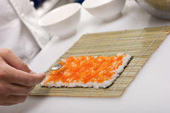 California roll cooking Stock Photo